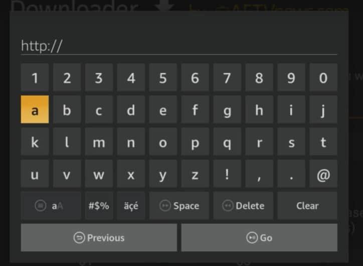 Downloader App Keypad