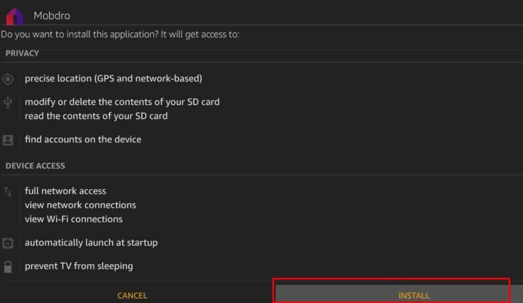Install MobDro on Amazon Fire TV Stick