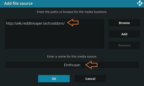 enter URL