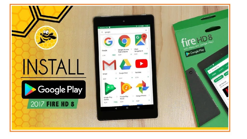 Install Google Play Store Amazon Fire HD 8