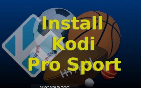 Pro Sport Kodi Addon