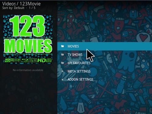 Install 123Movies Kodi Addon