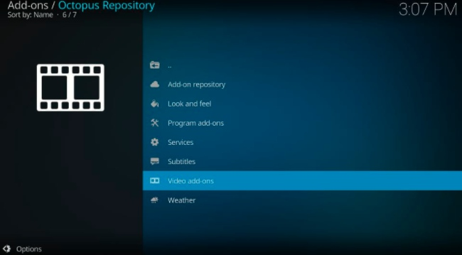 octopus repository video addons