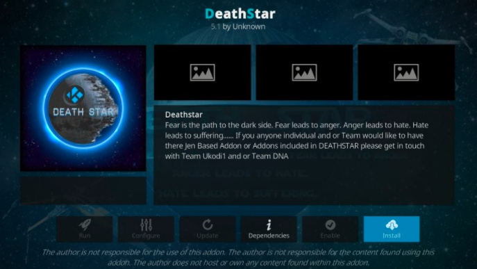 how to install DeathStar addon