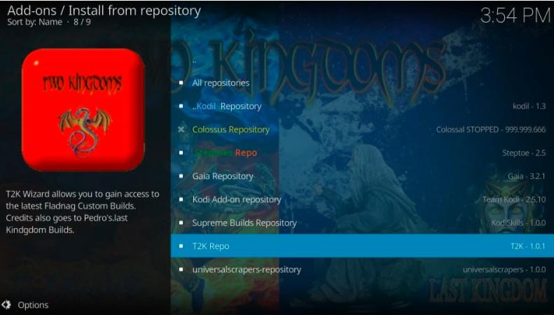 how to install kodi t2k 1 click movie addon