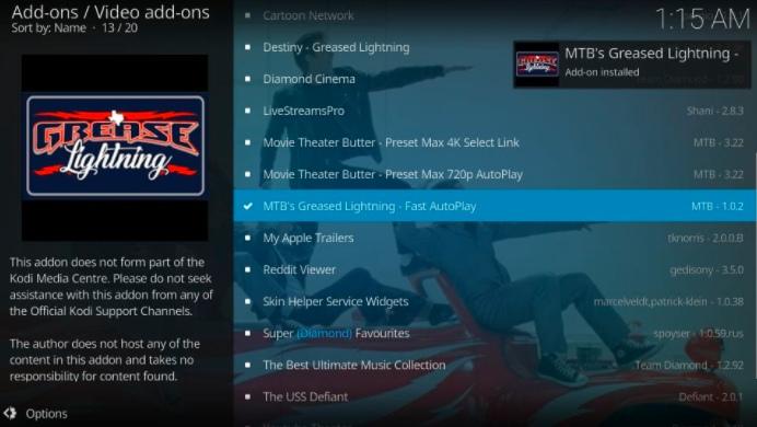 install mtb's grease lightning addon on kodi