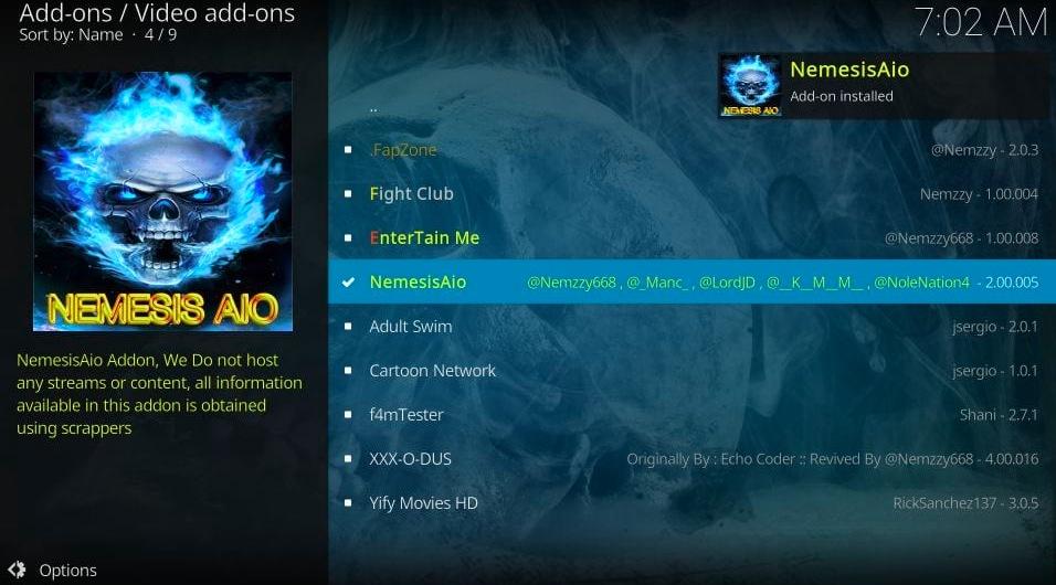 Nemesis AIO installed