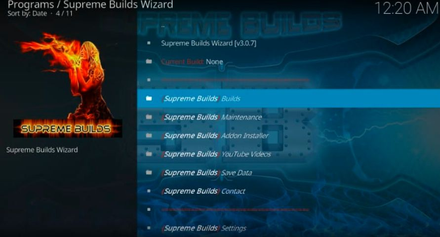 supreme builds wizard kodi