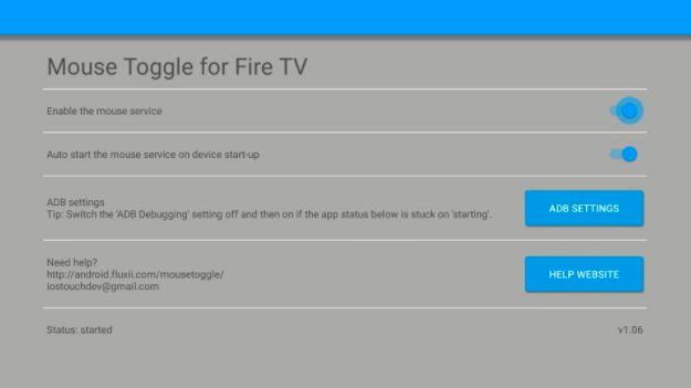 mouse toggle app screen on firestick