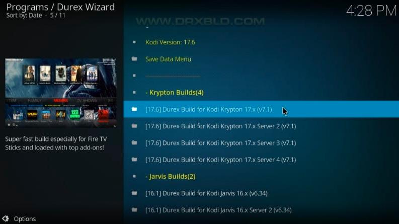 durex build for kodi krypton