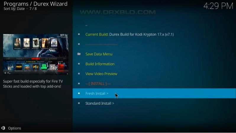 durex build fresh install