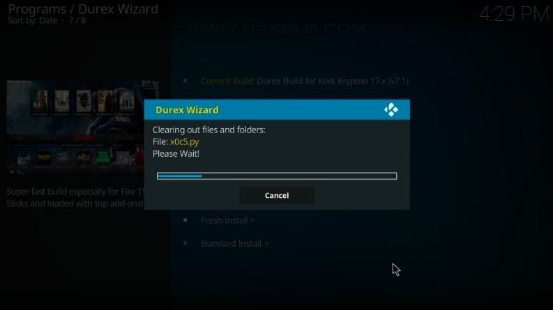 how to install durex on kodi