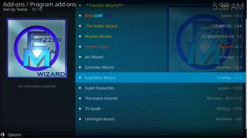 How to Install EzzerMacs Build on Kodi in Easy 2 Steps