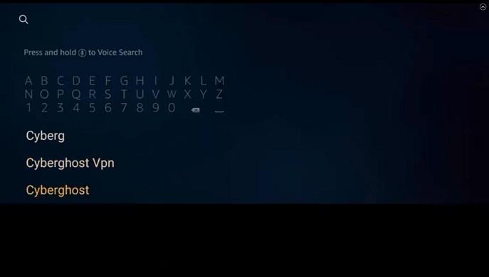 search cyberghost