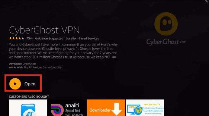 Open CyberGhost VPN