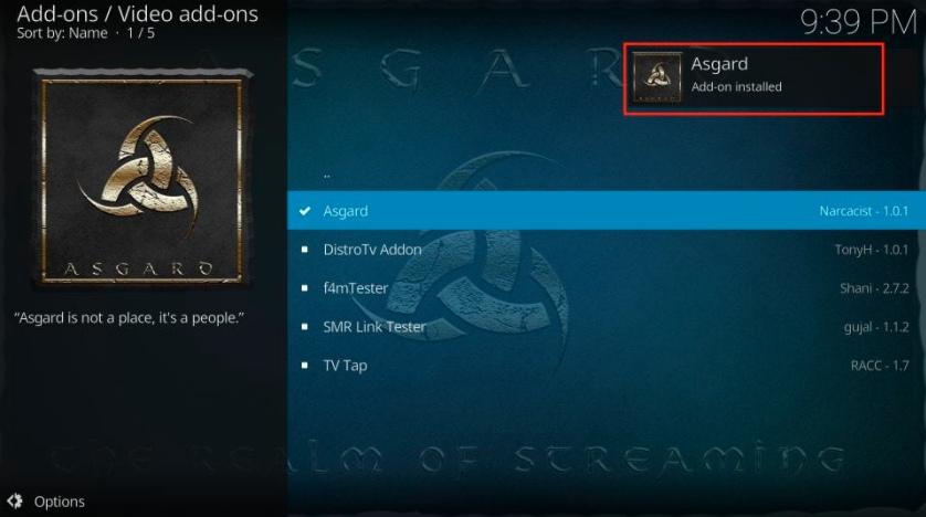 Asgard add-on