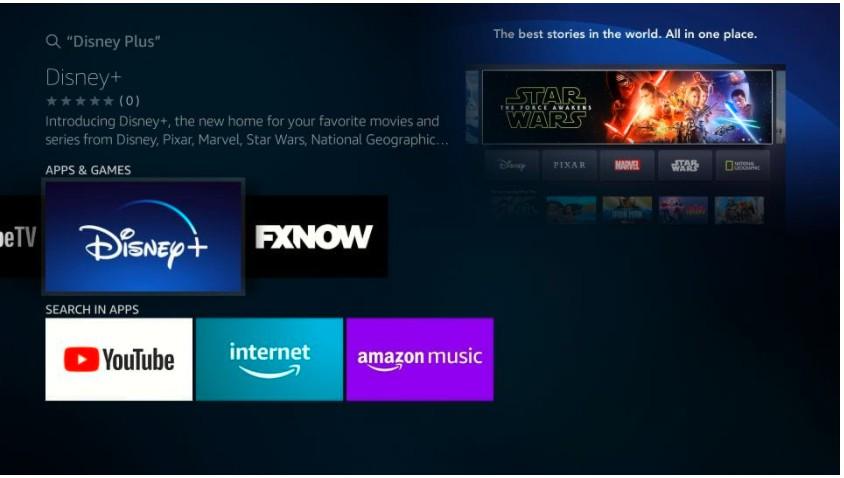 click on Disney Plus