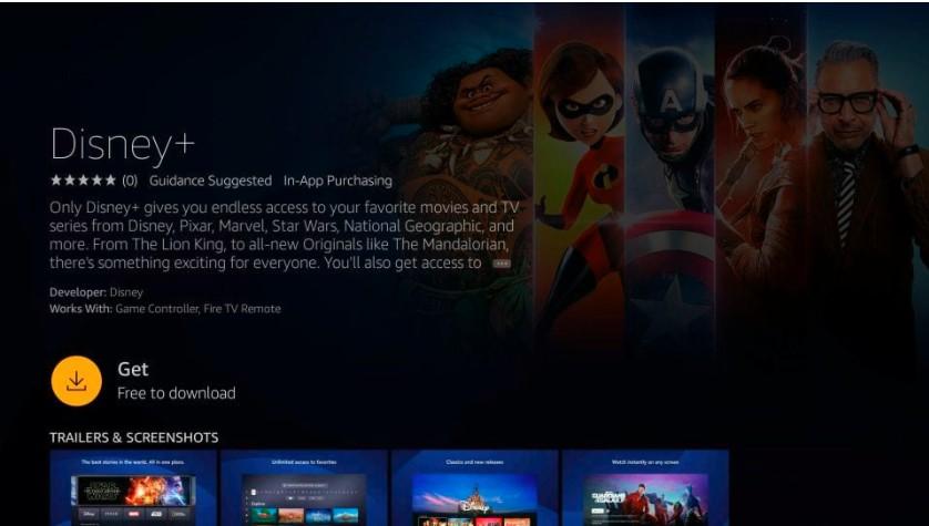 Get or Download Disney plus