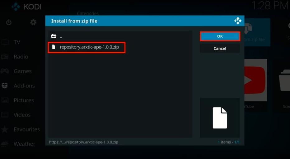 repository zip file