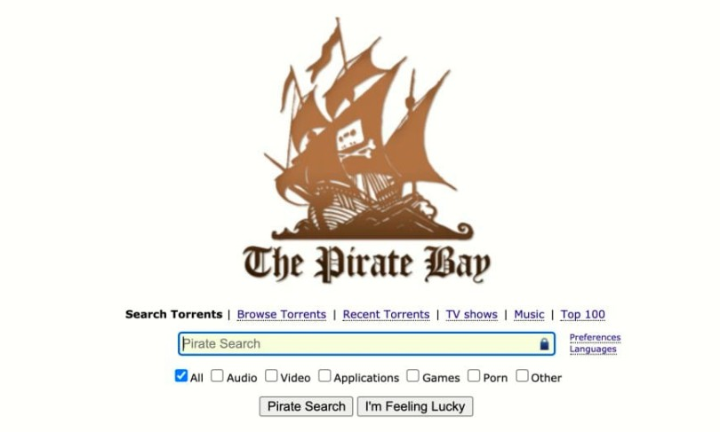 1. The Pirate Bay — Overall Best Torrent Site