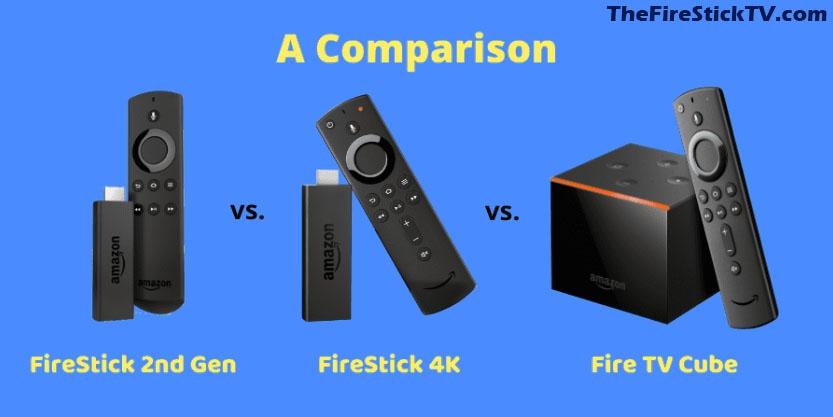 [ Fire TV Devices ] FireStick vs. FireStick 4K vs. Fire TV Cube - Comparison