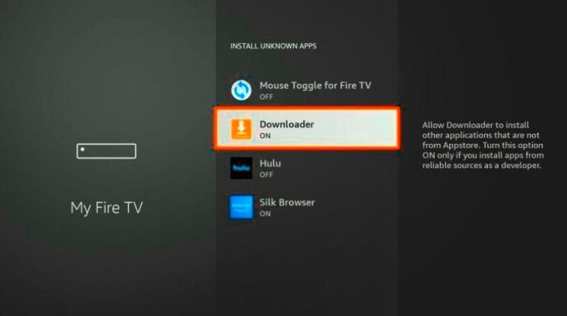 Downloader turn on