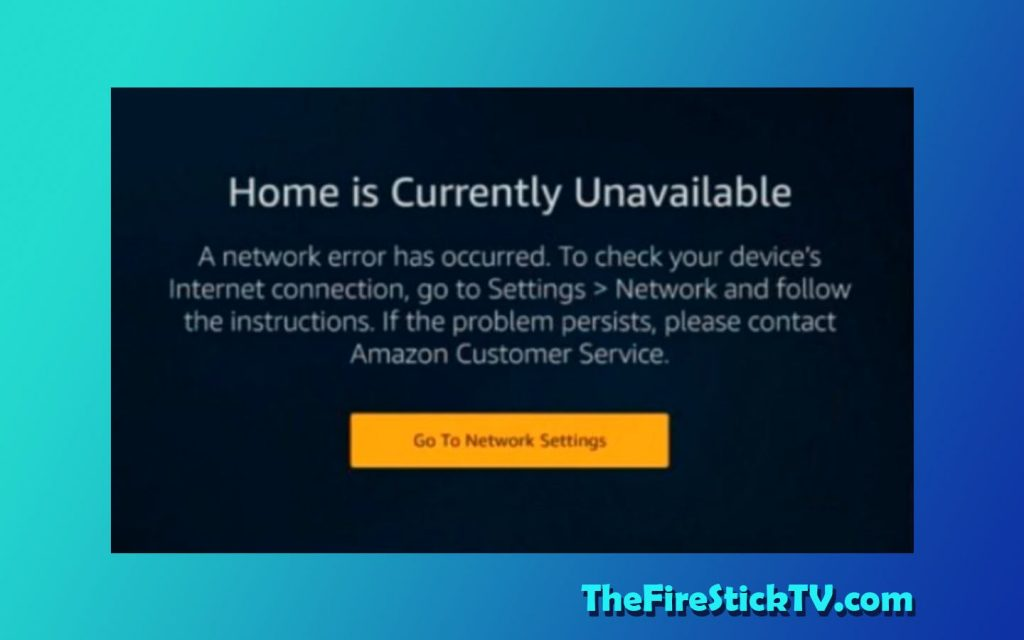 Home is Currently Unavailable