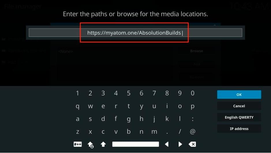 Copy-paste or type URL