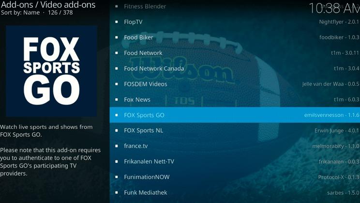 FOX Sports GO.