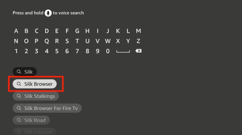 search of find on firestick