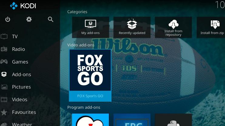 click the FOX Sports GO