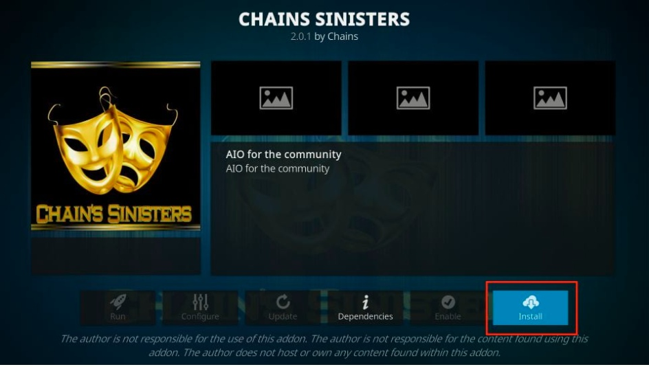 install chains sinisters
