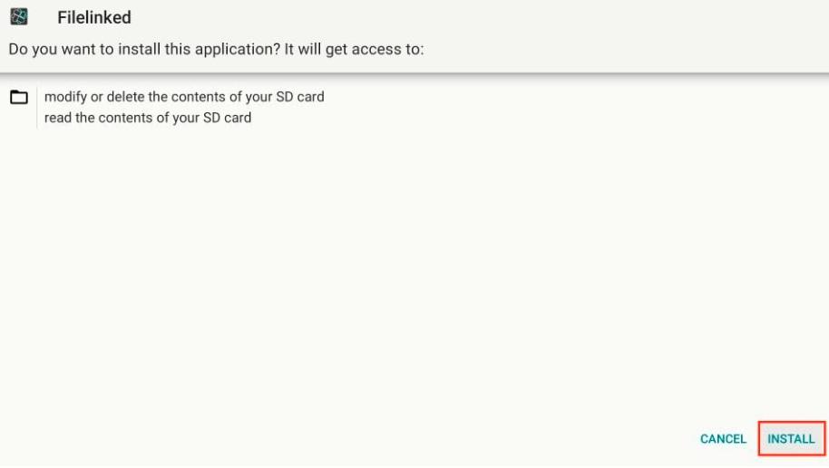 install file linked app