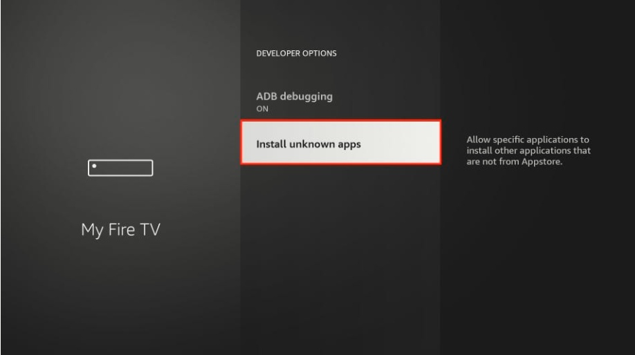 install unknown apps