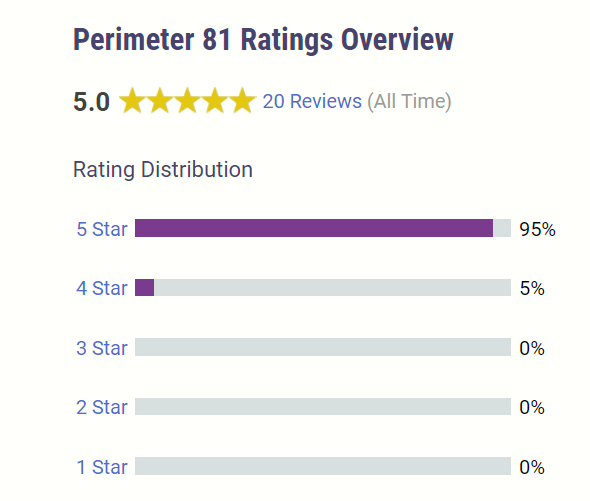 Perimeter 81 VPN rating overview