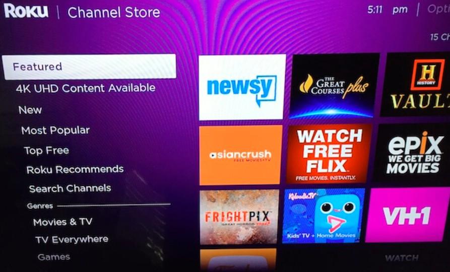 Roku Channel Store